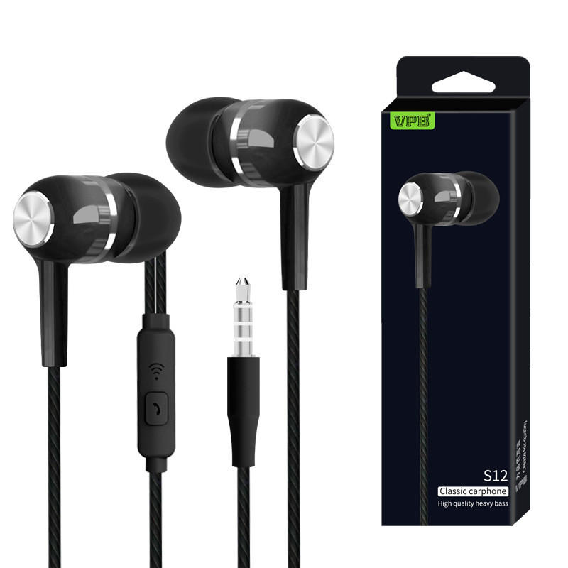 S12 Sport Earphone Wired Super Bass 3 5mm Handsfree Headset Earbuds With Mic For Pc Mp3 Xiaomi Samsung Sport Earphones Earbuds With Mic Handsfree