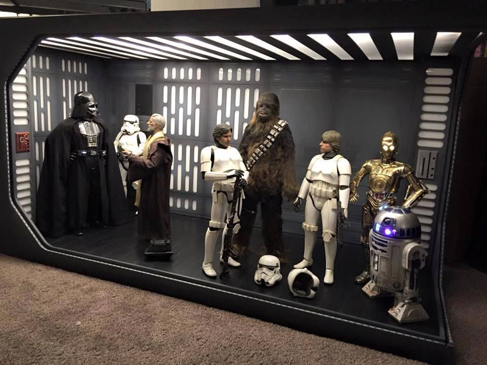 death star star wars diorama hot toys small projects. Black Bedroom Furniture Sets. Home Design Ideas