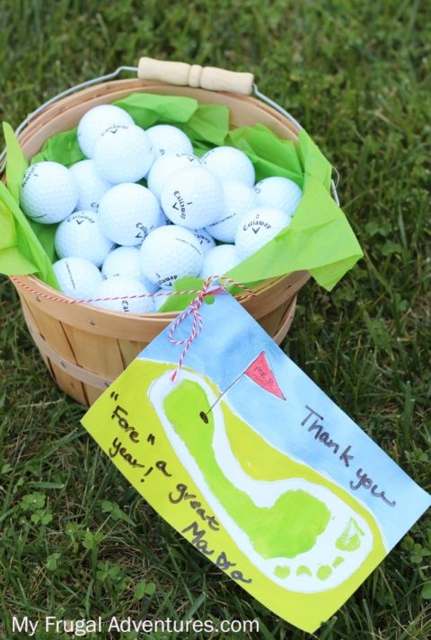 Golf gift basket teacher appreciation gift or fathers day gift golf gift basket teacher appreciation gift or fathers day gift negle Image collections