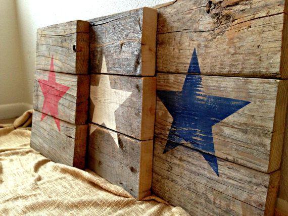 1 Wall Hanging /& 2 Table Top Pieces Americana Patriotic Folk Art Pcs - All Wood 3 Rare Vtg