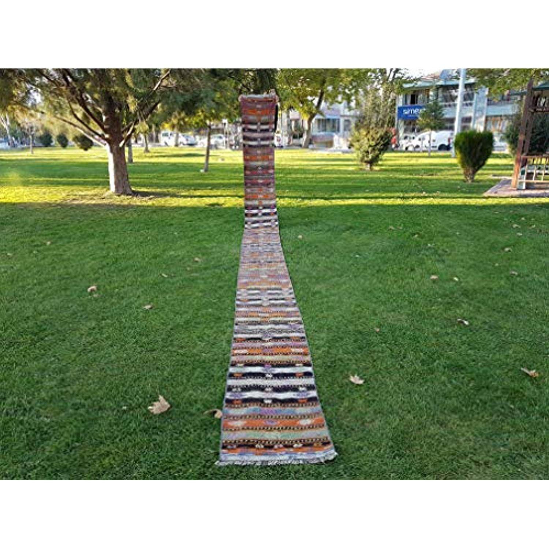 Best Turkish Kilim Runner 24 Ft Vintage Multi Colored Stripe 640 x 480