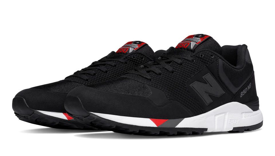850 New Balance 90\u0027s Running, Black with Red