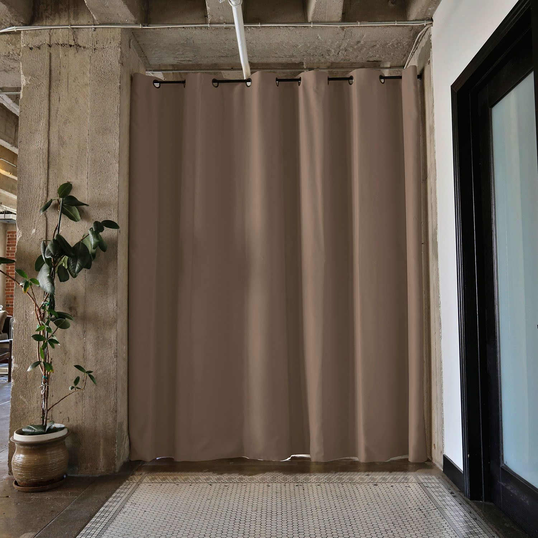 Premium heavyweight room divider curtain panel bump out