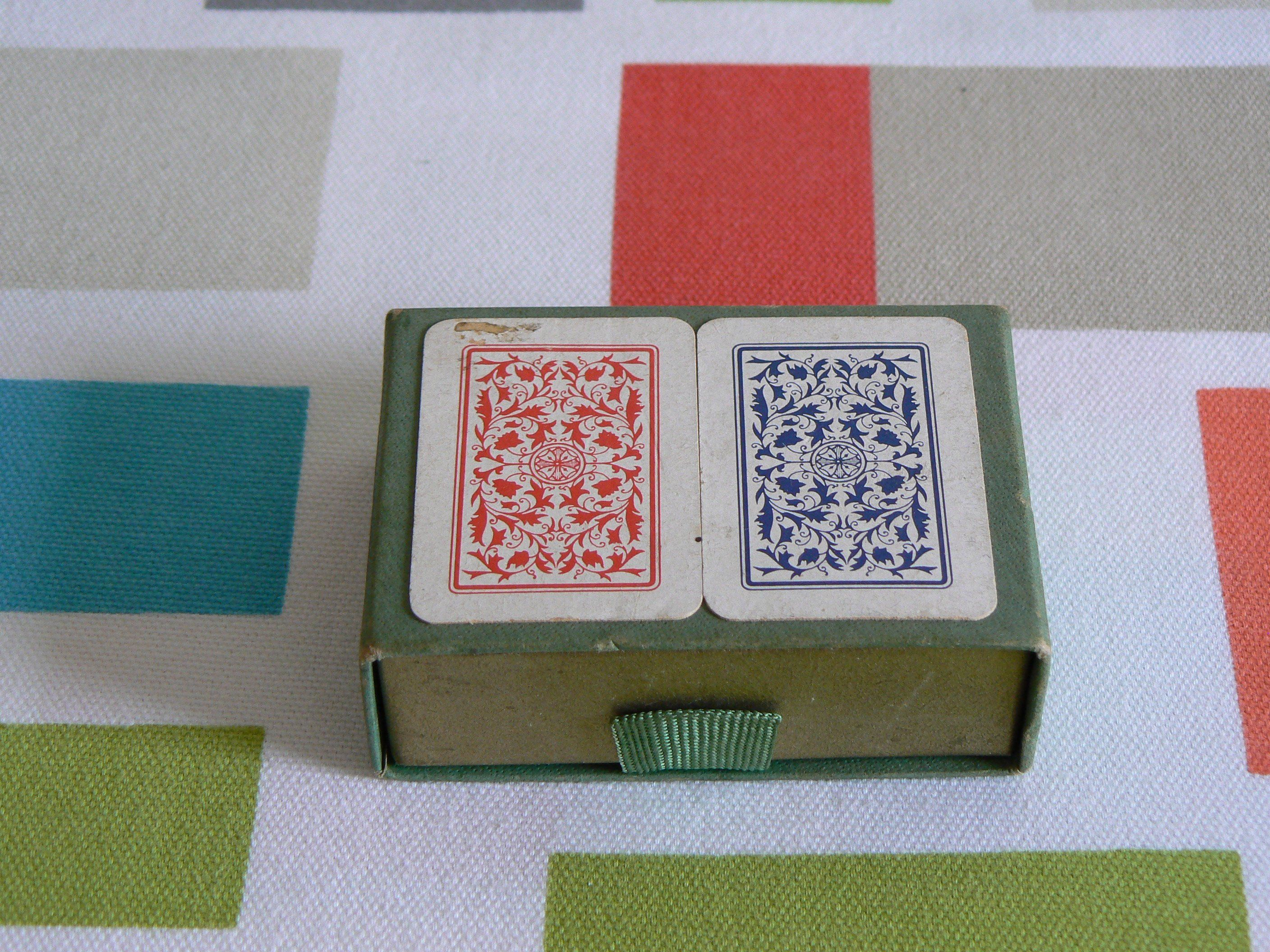 Vintage dutch miniature travelling patience game featuring