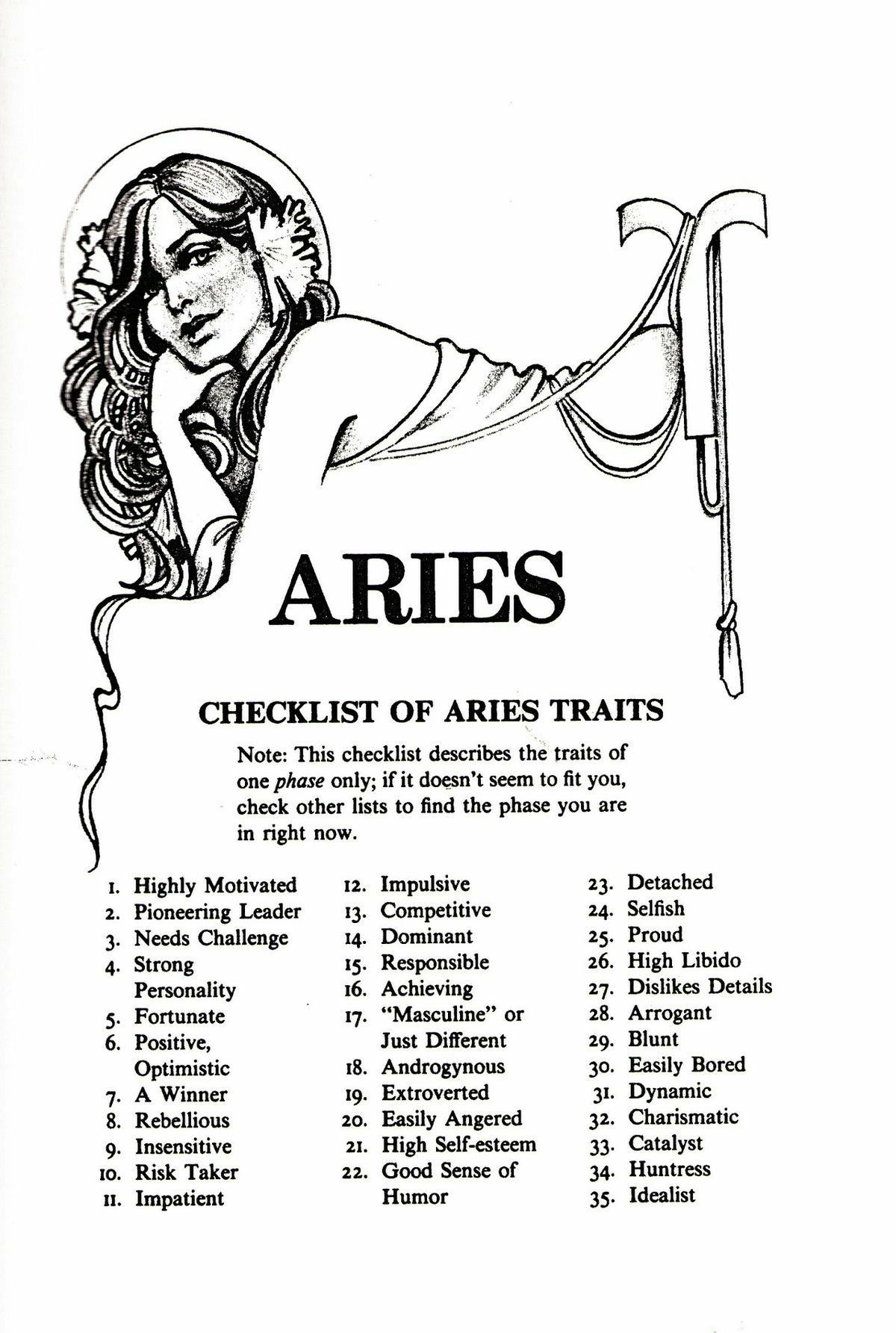 Aries Checklist Of Traits. Aries zodiac facts, Aries