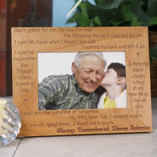 Personalized Always Remembered Memorial Wood Picture Frame Wood