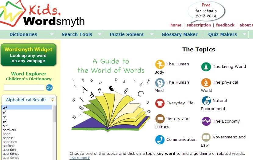 Free online Dictionary including thesaurus, children's and