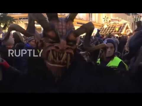 Germany It\u0027s Krampus o\u0027clock! Festive Christmas devils hit Munich