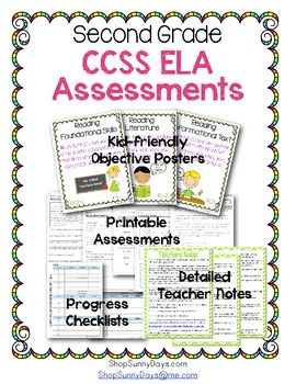 Common Core Assessment Pack Ela Grade 2 Primary Powerhouses