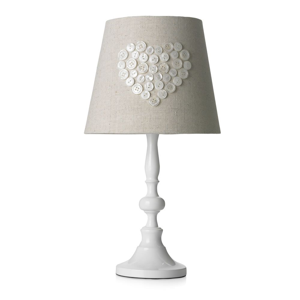Wilko Pearl Heart Lamp White
