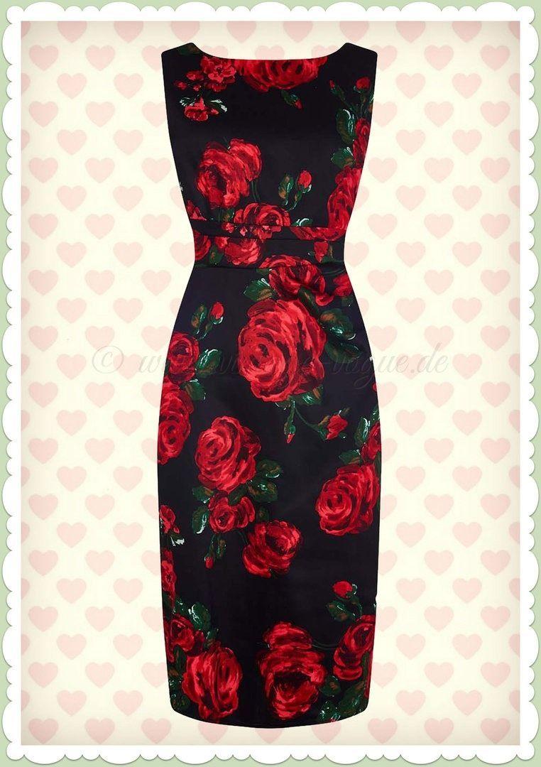 Abend Coolste Schwarzes Kleid Mit Roten Blumen Boutique - Abend