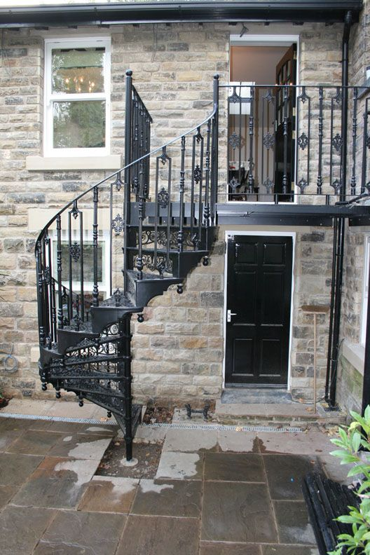 Best Traditional Victorian Cast Spiral Staircases Exterior 400 x 300