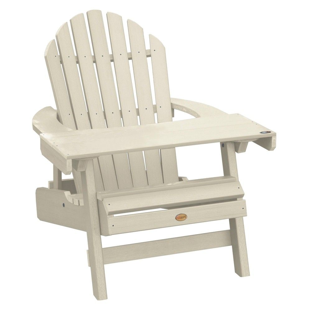Hamilton Folding Reclining Adirondack Chair With Adirondack Laptop Reading Table Whitewash Highwood Off White Patio Chairs Outdoor Seating Outdoor Furniture