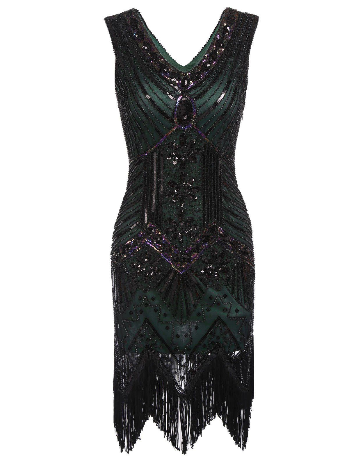 7092ee037d1 1920s Sequined Flapper Dress – Retro Stage - Chic Vintage Dresses and  Accessories