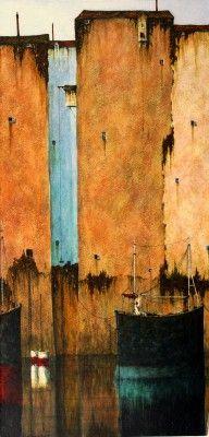 British Artist Cyril CROUCHER-No Stir in the Air