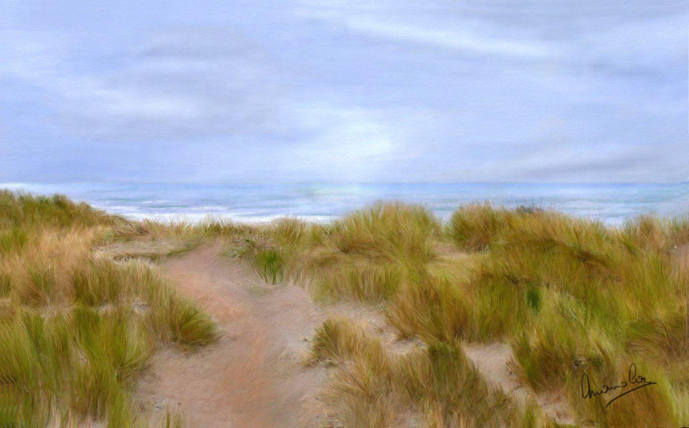 Dunes du Touquet - Digit'Arts - by Manola peinture graphique