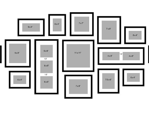 Frame Wall Collage Layout Ideas Valiet