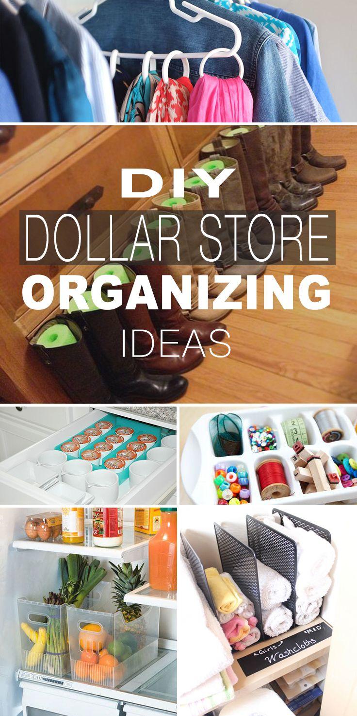 Dollar Store Organizing Ideas TBD • Home Decorating