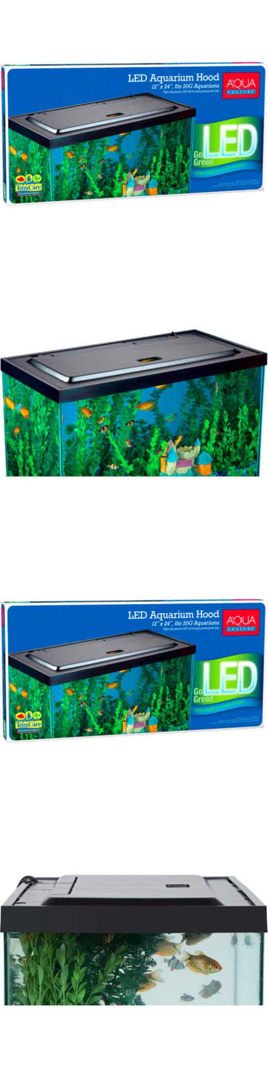 Aquarium fish tank hoods - Aquariums And Tanks 20755 Aqua Culture Led Aquarium Hood For 20 55 Gallon Fish Tank