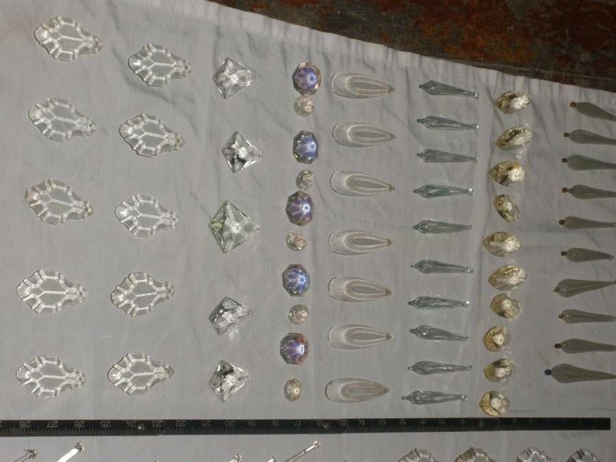 Vintage chandelier parts glass crystal prisms dangle mixed lot 2 vintage chandelier parts glass crystal prisms dangle mixed lot 2 aloadofball Image collections