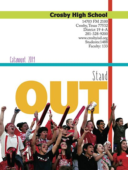 Yearbook title page layout