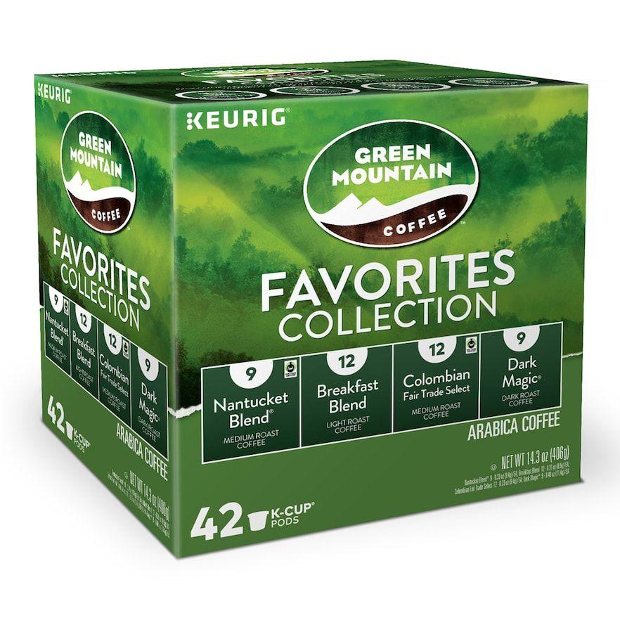 Green mountain coffee keurig kcup pods light medium