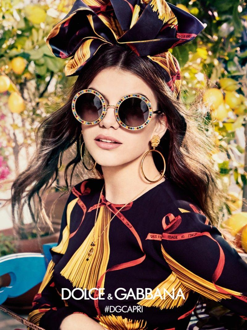 184487edc5 Circular framed sunglasses appear in Dolce & Gabbana Eyewear's  spring-summer 2017 campaign