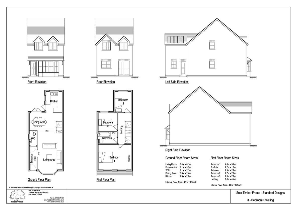 Townsend 3 3 Bedroom House Design Designs Solo Timber Frame House Plans Uk Two Bedroom House House Plan Gallery