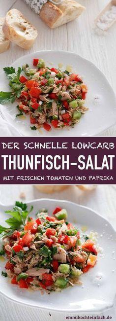 Thunfischsalat mit frischen Tomaten und Paprika Der einfache und schnelle ...   - Salate -