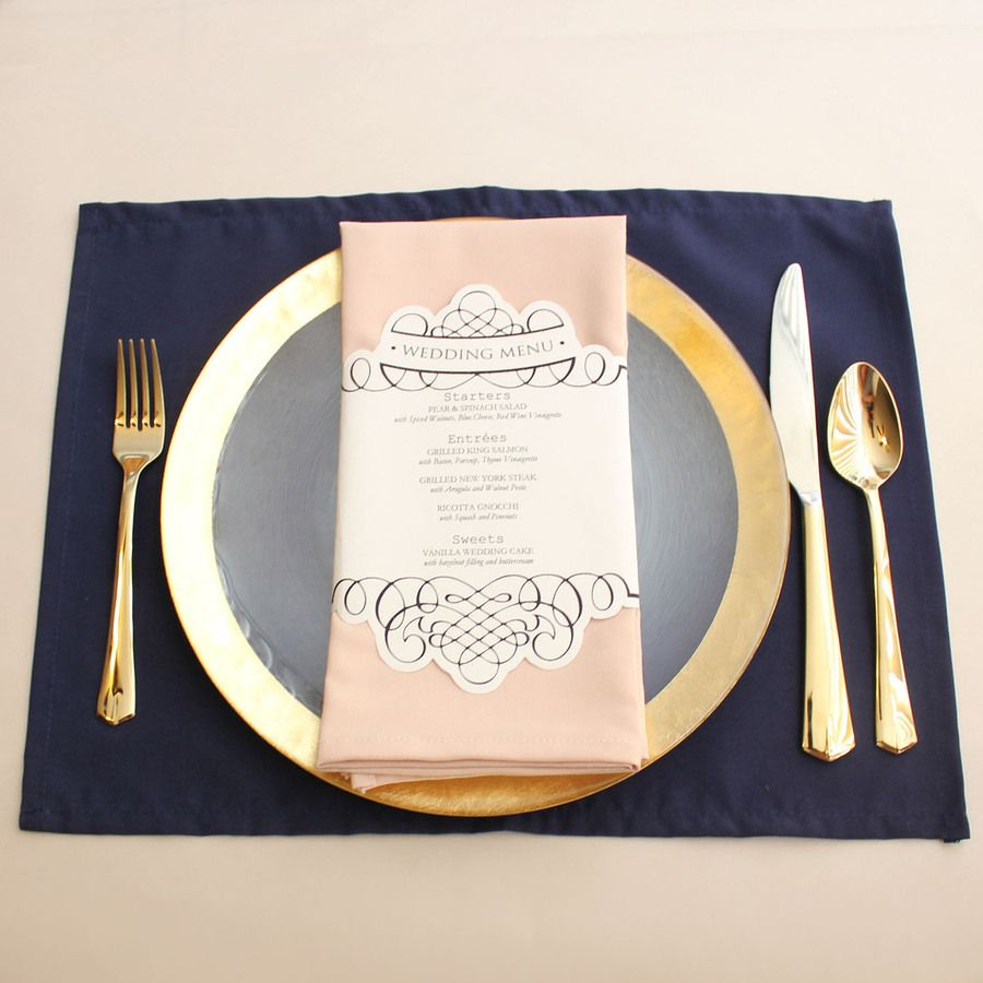 Navy Blue Placemats Wholesale Fabric Placemats For Hotels Restaurants And Weddings