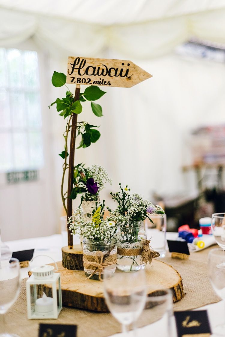 a relaxed garden soiree wedding in kiama wedding photography table centerpiece ideas Decor Centrepiece Table Log Slice Jar Flowers Name Branch Rustic Relaxed  Countryu2026