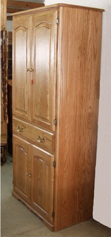 Amish Pantry Cabinet with Amish solid oak pantry cabinets ...
