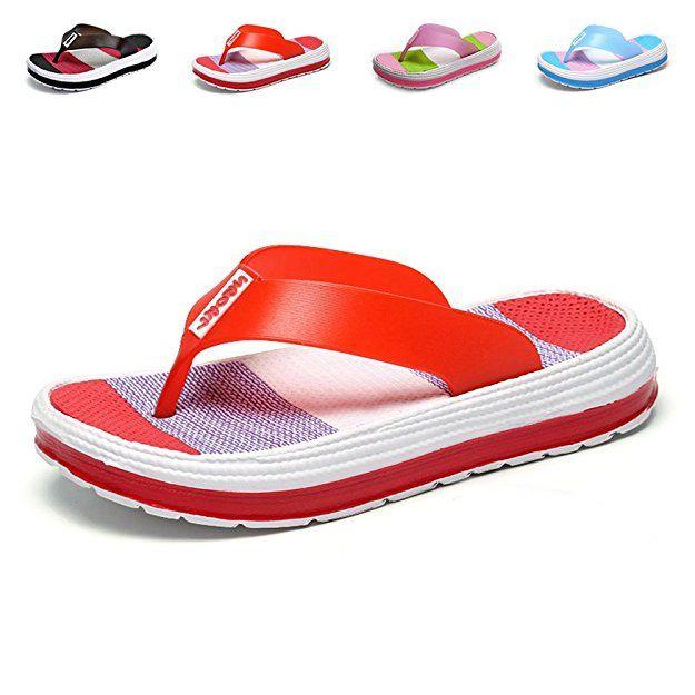 e3f3260ff7a585 Yiomxhi Women s Flip Flops Beach Walking Slippers Shower Shoes Thong Sandals