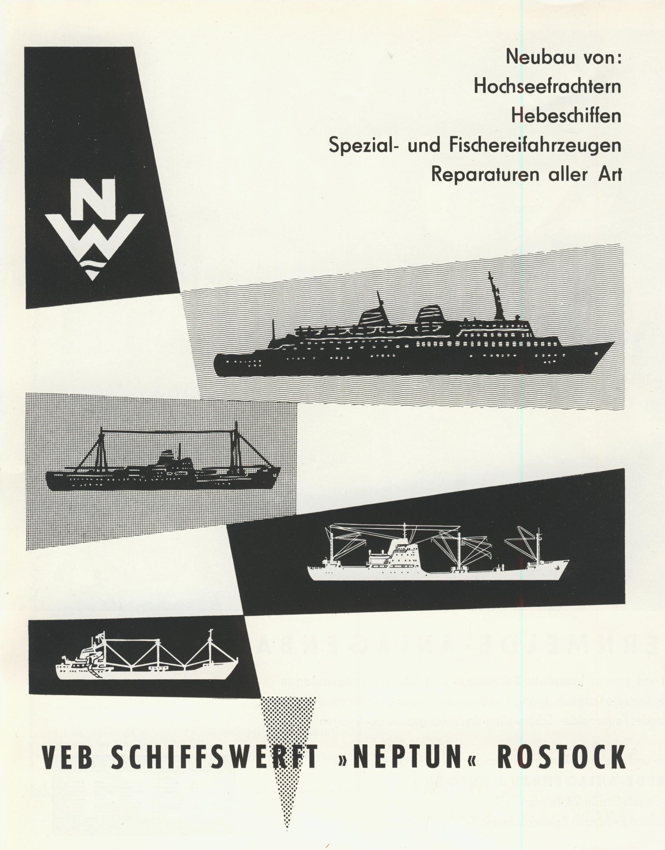 Rostock VEB Schiffswerft Neptun