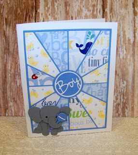 Ann Greenspan's Crafts: Baby Elephant Boy Card