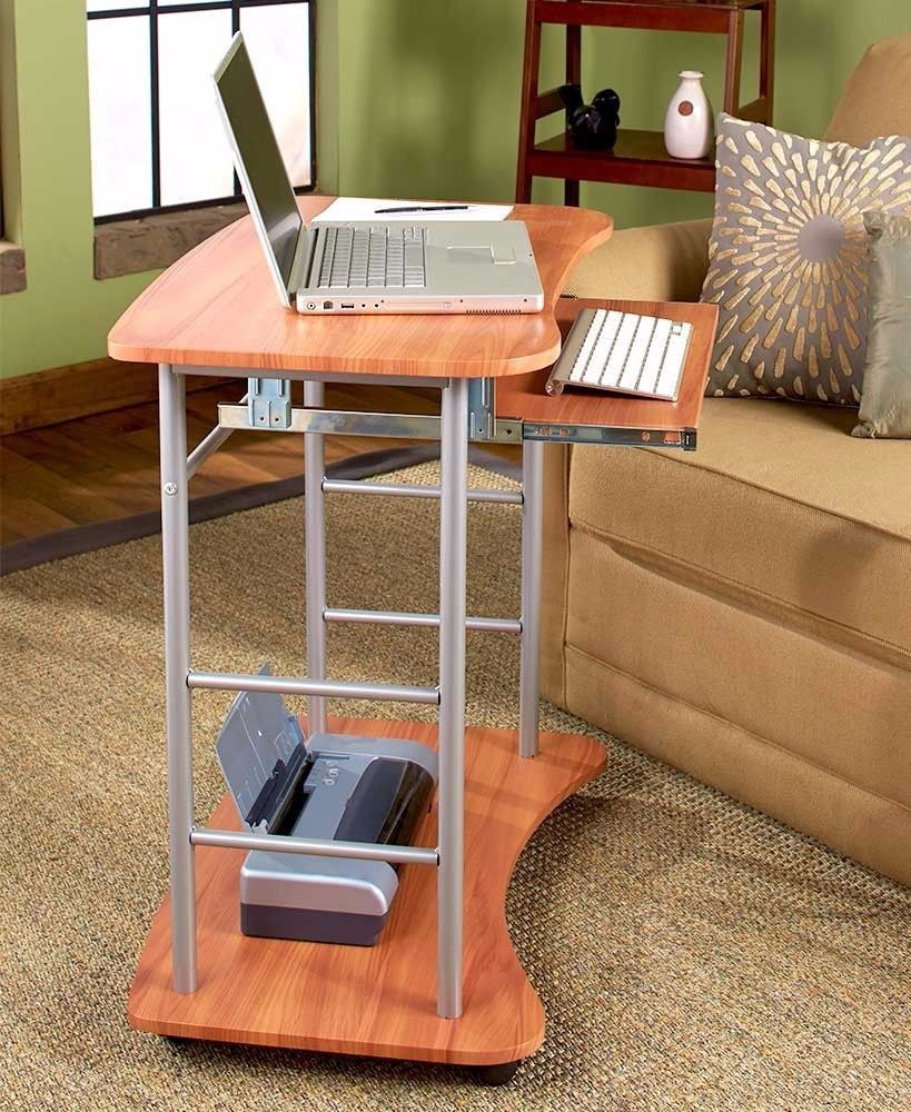 New Rolling Computer Laptop Desktop Portable Mobile Desk Printer Stand Table Home Office Design Desk Computer Desk