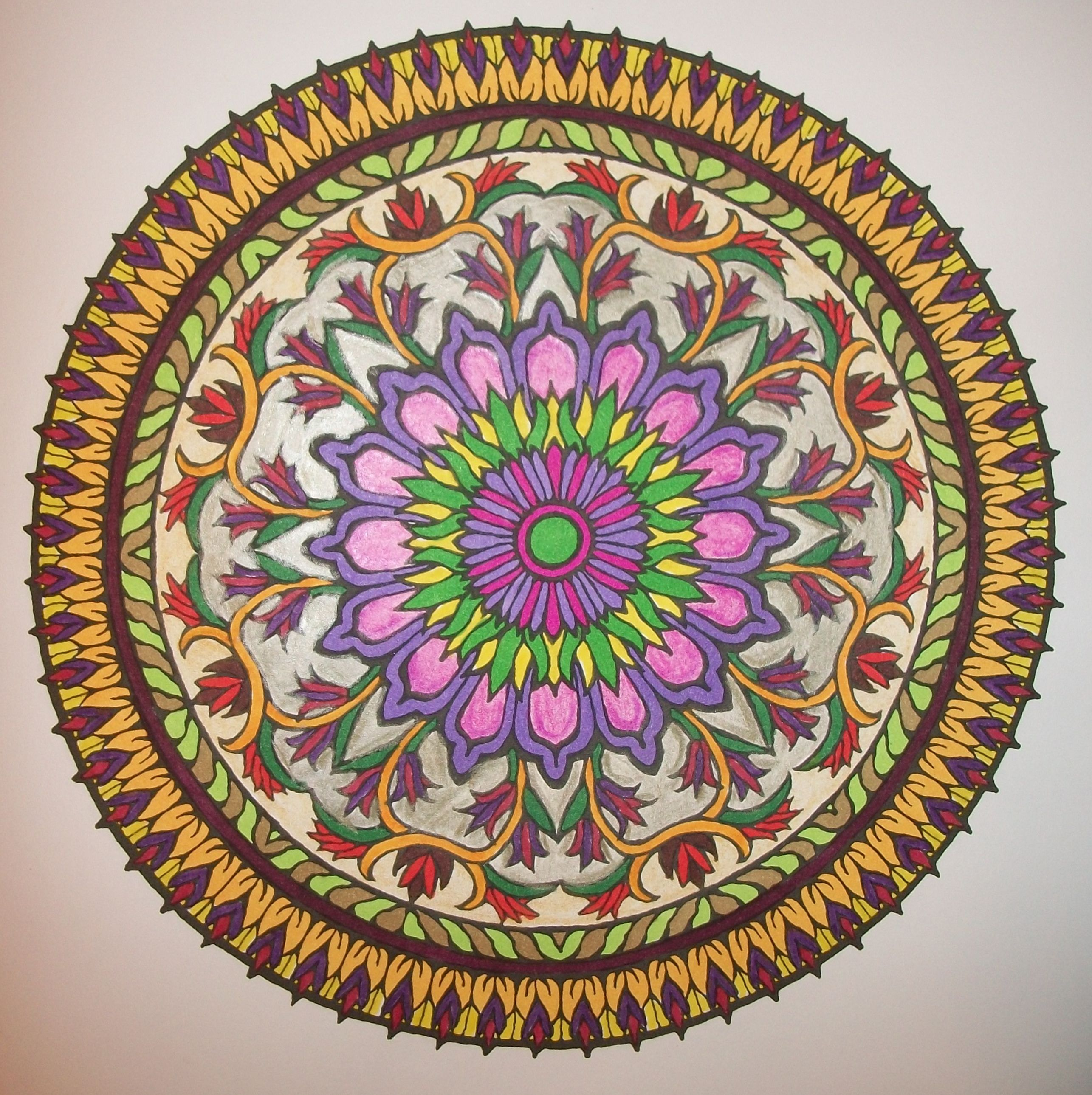 Mandala Coloring Book With Markers