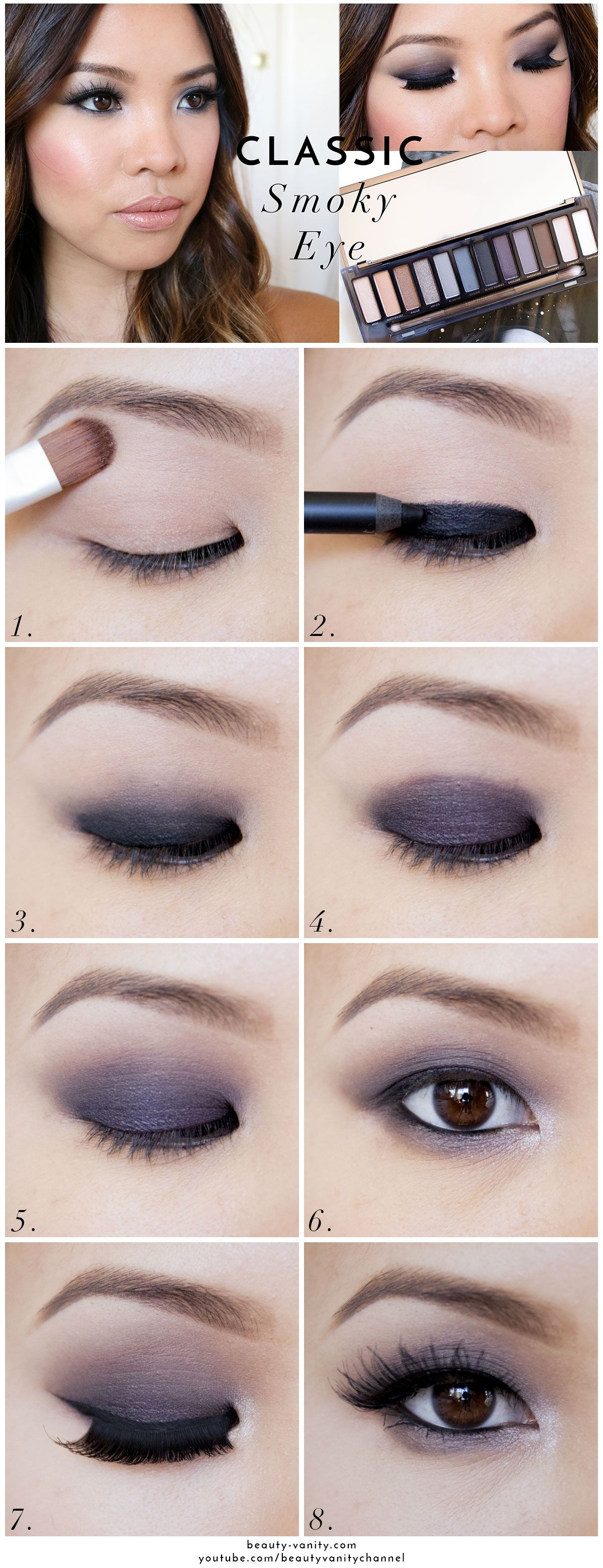 The Beauty Vanity Classic Smoky Eye Makeup for Asian