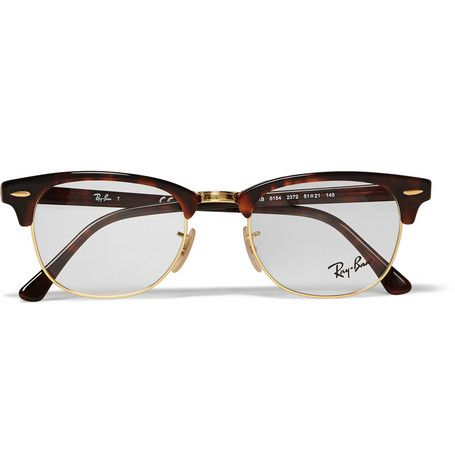 95b11bc160 Ray-Ban Clubmaster Tortoiseshell Acetate And Metal Optical Glasses ...