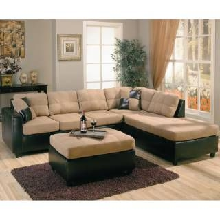 Check out the Coaster Furniture 500675R Harlow Contemporary Two Tone Sectional Sofa in Tan priced at $661.20 at Homeclick.com.