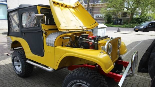 Classic Jeep Cj5 Converted To Electric Gas 2
