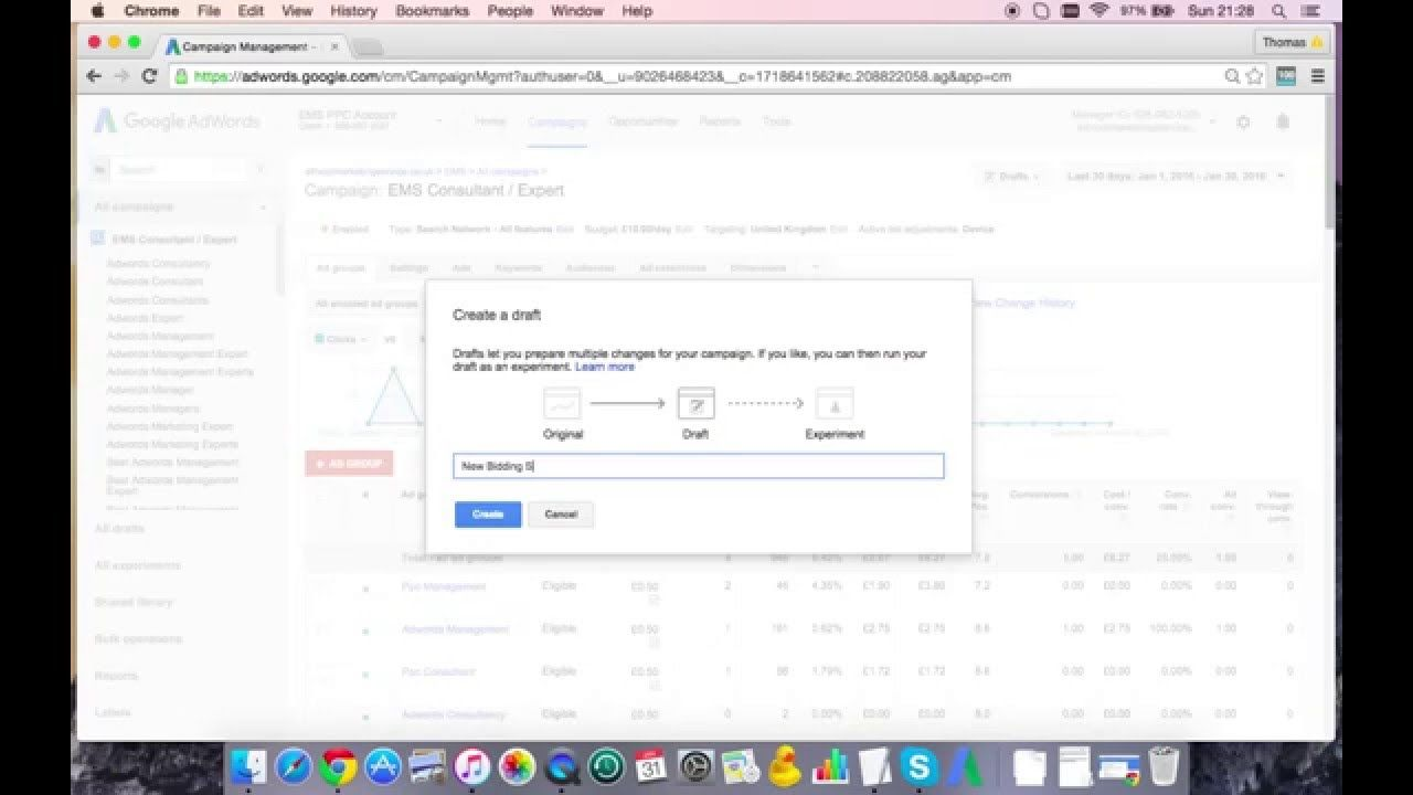 How To Use Adwords Draft Campaigns To Experiment Adwords