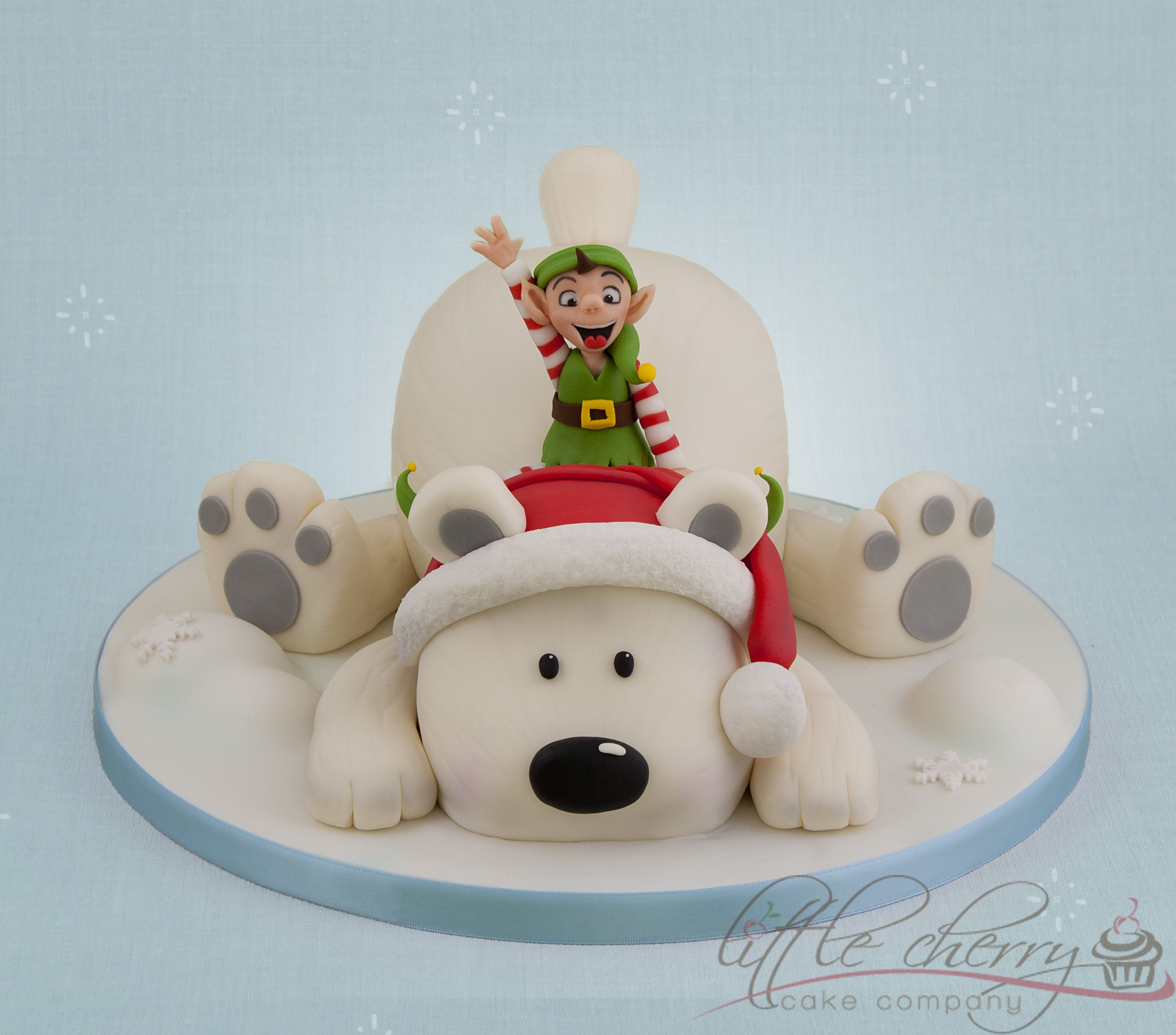 Polar Bear and Elf Christmas cake decorations, Christmas
