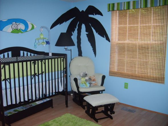 blue and green beach theme baby room decor blue and green beach