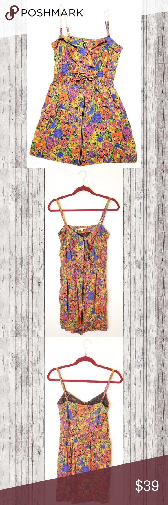 Gianni bini abstract rose zipper dress in my posh picks