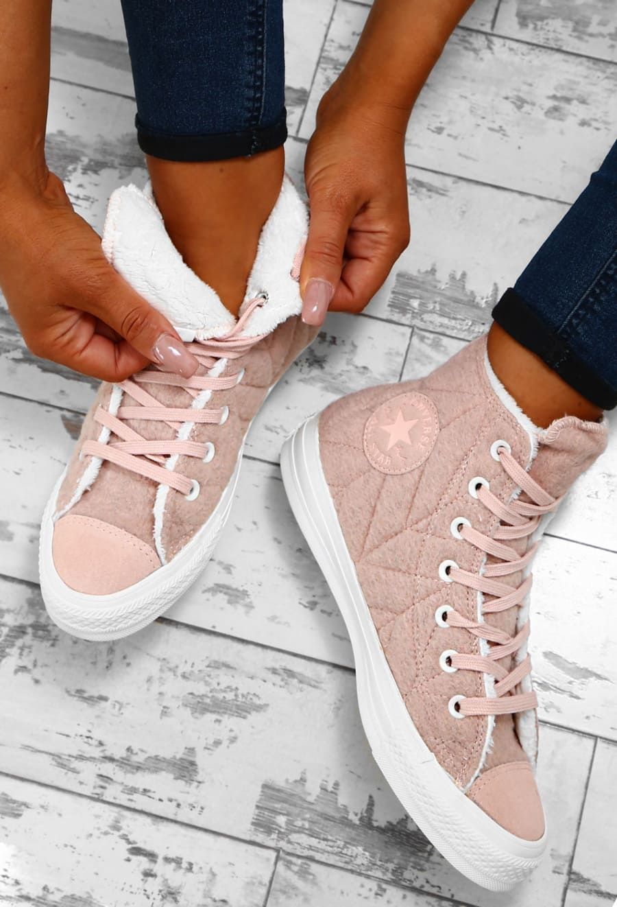 Chuck Taylor Converse Pink Quilted High