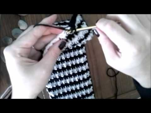 Crochet Houndstooth Stitch Headband Ear Warmer #TUTORIAL How to ...