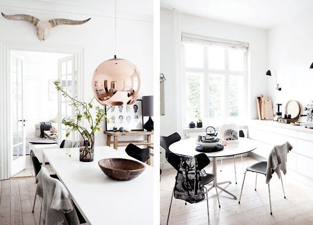 Tom Dixon Copper Shade Pendant Dining Room Design Scandinavian Interior Design Interior Inspiration