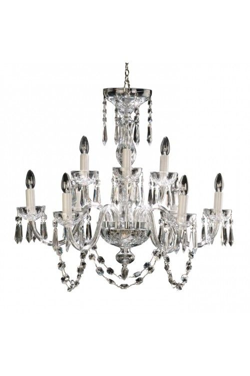 Lismore 9 Arm Chandelier Waterford Crystal Crystal Chandelier