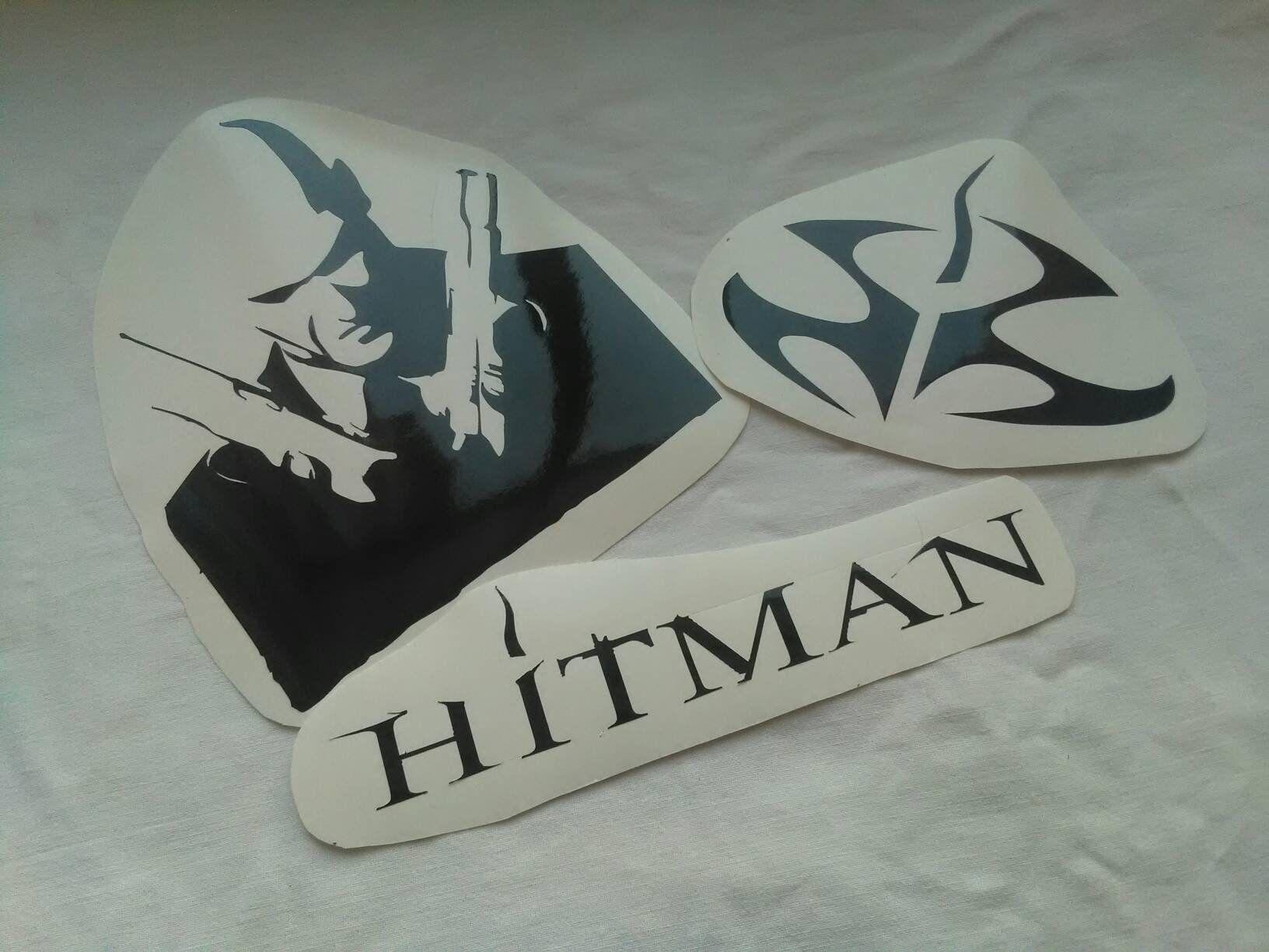 hitman themed vinyl stickers decals hitman silhouette agent 47